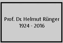 Nachruf Prof. Rünger