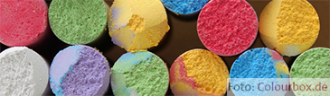 Tafelkreide in bunten Farben