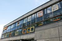 Fenster einer Schule