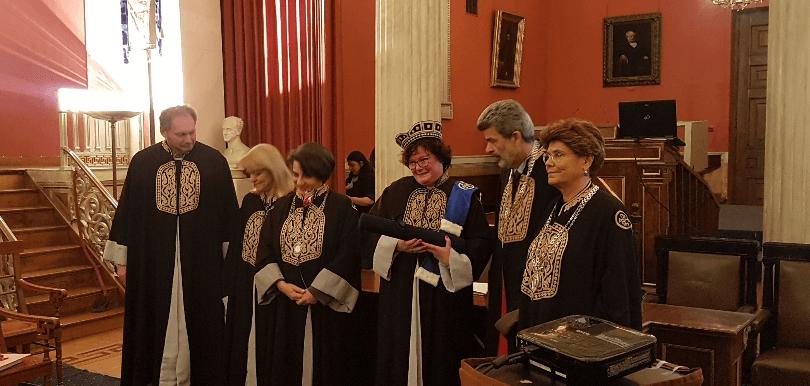 Foto der Verleihung der Ehrendoktorwürde