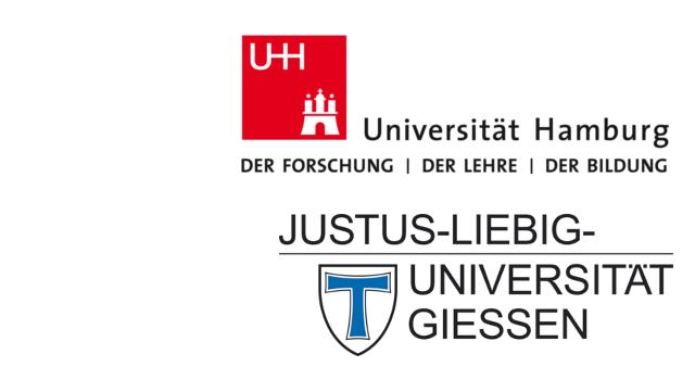 Logos von Universität Hamburg und Justus-Liebig-Universität Giessen