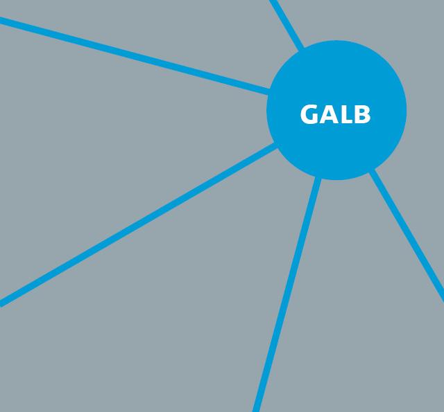 Schriftzug GALB