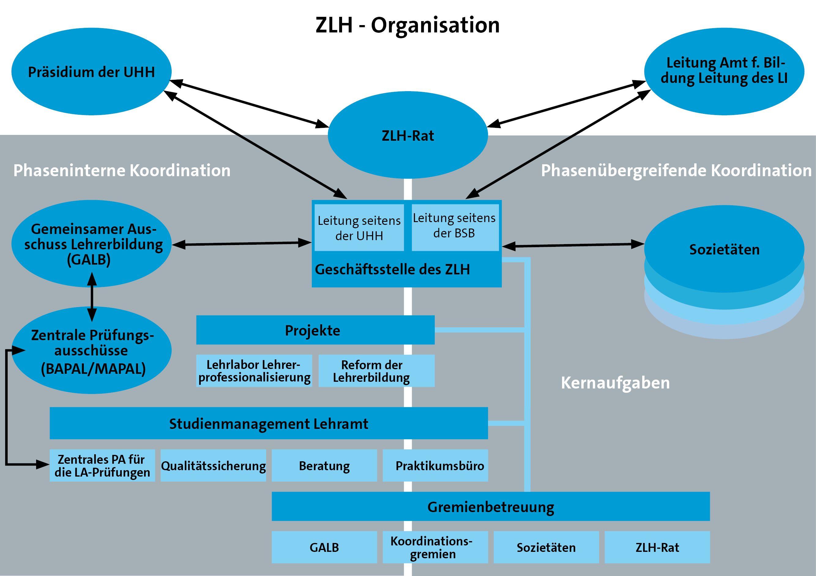 Darstellung der Organisation des ZLH
