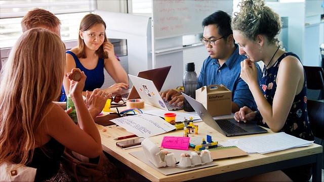 Arbeitsgruppentreffen von Studierenden
