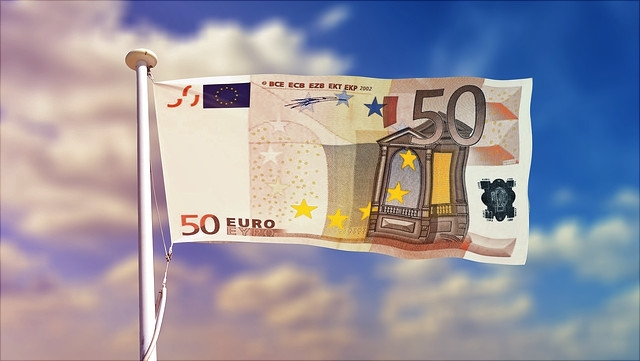 Flagge aus 50 Euro Schein