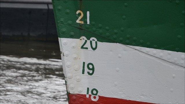 Ausschnitt eines Schiffsrumpfes