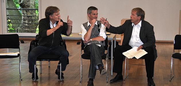 Von links nach rechts: Prof. Dr. Hans-Martin Gutmann, Prof. Dr. Fernando Enns, Prof. Dr. Wolfram Weiße