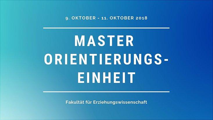 Einladung zur Master-OE
