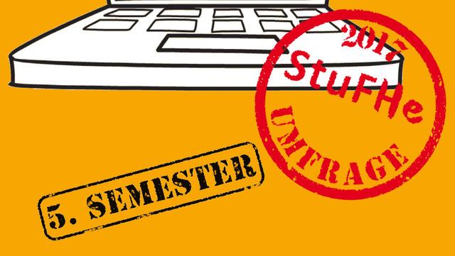 Posterausschnitt zur StuFHe-Umfrage zum Studienverlauf