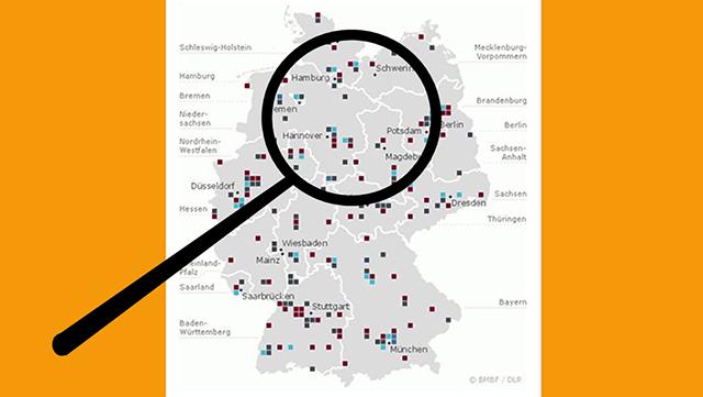 Landkarte Deutschland Übersicht der teilnehmenden Hochschulen des Qualitätspakts Lehre