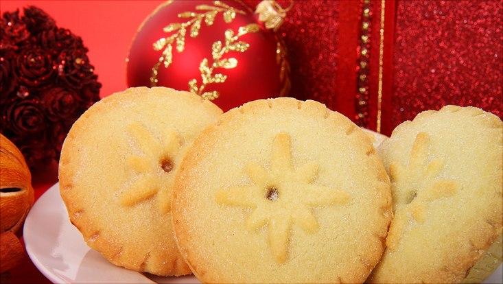 Weihnachtsdekoration und Weihnachtskekse