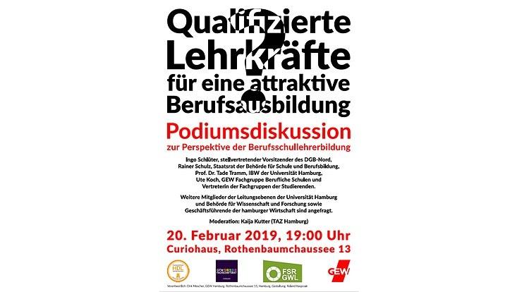 Plakat Podiumsdiskussion