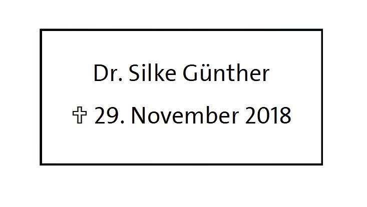 Nachruf Silke Günther