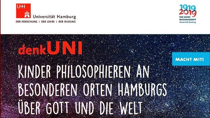 Plakat zur denk-Uni anlässlich des Universitätsjubiläums