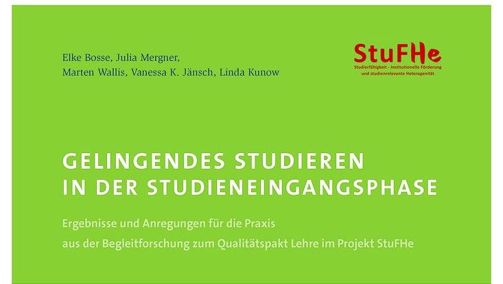 Titelbild Handreichung StuFHe Gelingendes Studieren in der Studieneingangsphase