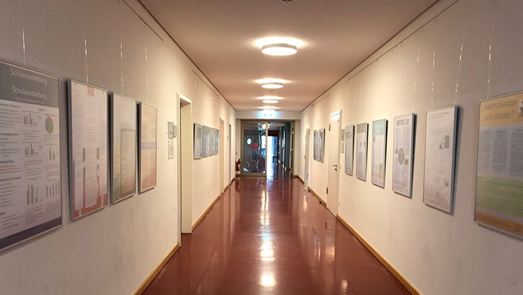 Flur der 2. Etage im Von-Melle-Park 8