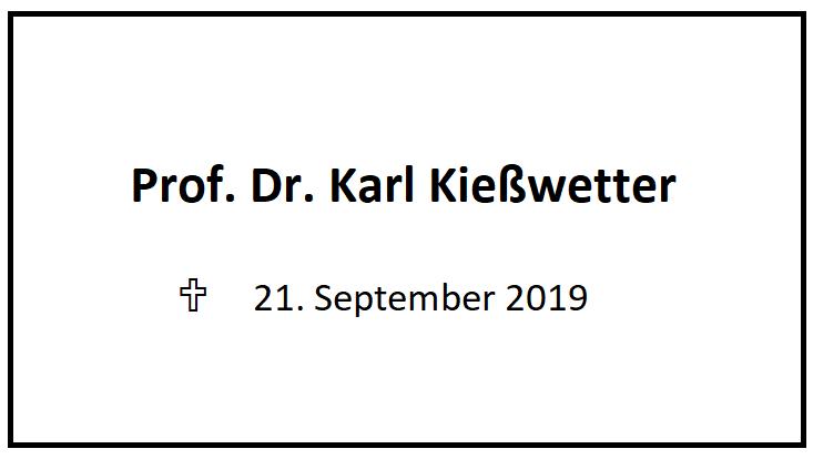 Todesanzeige Prof. Karl Kießwetter
