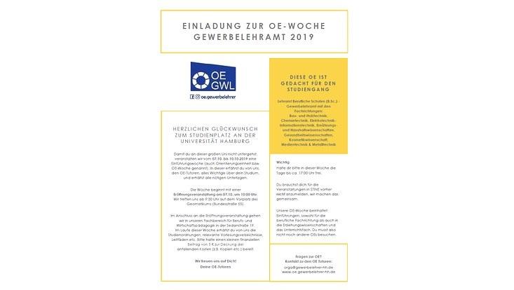 Einladung zur OE Gewerbelehramt 2019