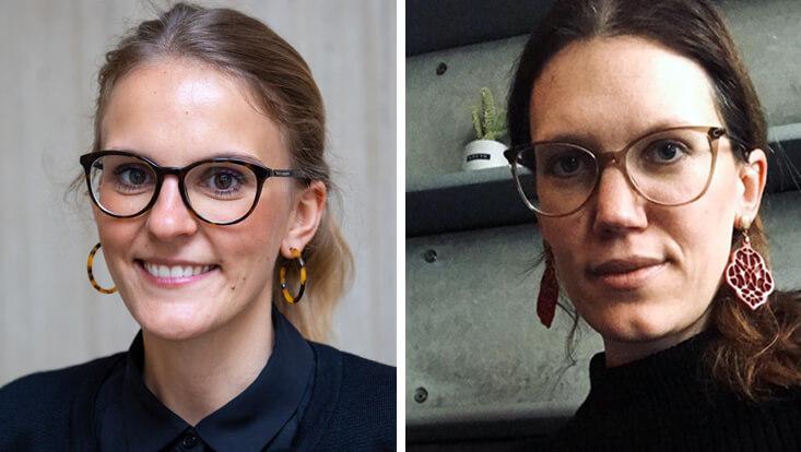 Portraits von Simone Plöger und Elisabeth Barakos