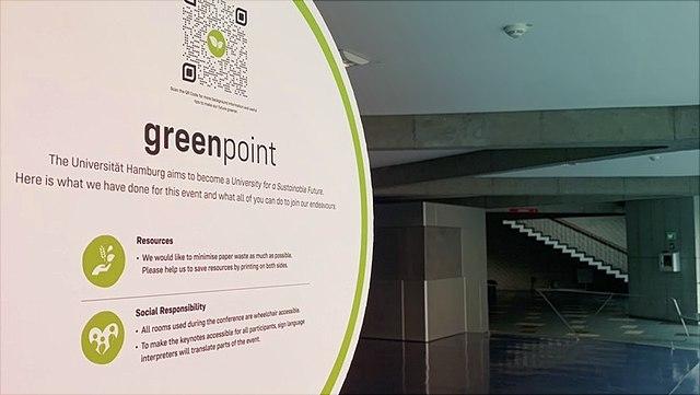 Greenpoint im Foyer des Audimax