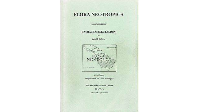 "Image of book cover ""Flora Neotropica, monograph no. 60: Nectandra"""