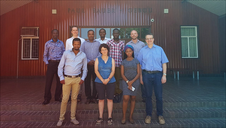 The picture shows the Biohome project team.