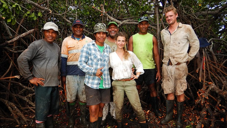 Datenaufnahme in den Mangroven
