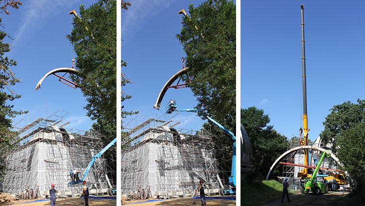 Restaurierung der Sternwarte: Heute werden die Spaltklappen der Refraktorkuppel abgehoben