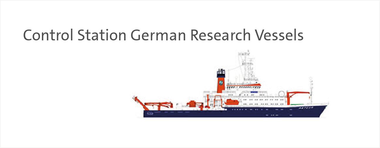 The RV Meteor. This banner is a direct link to the website of the Control Station German Research Vessels.