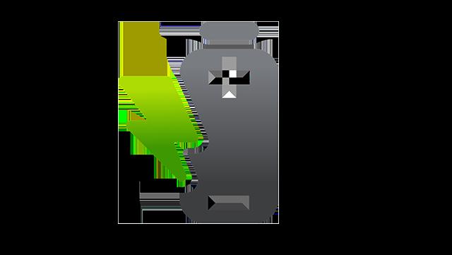Grafik einer Batterie