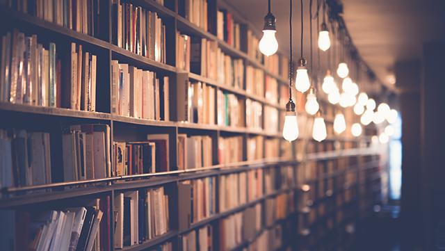 Foto einer Bücherei