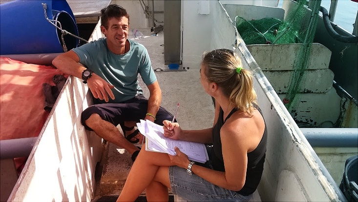 Interviews with fishers undertaken by CSIC