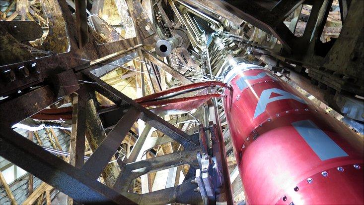MAIUS-I Rakete vor dem Start im Raketen-Launcher