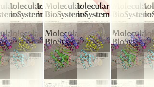 Frontcover Molecular BioSystems 8 (2012)