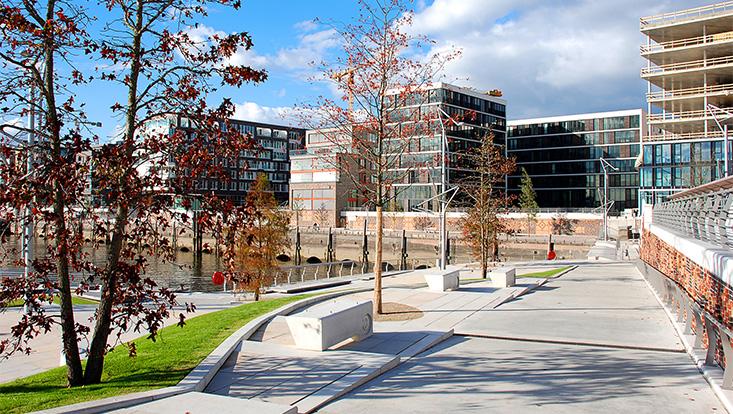 Blick auf die Hafen City Universität