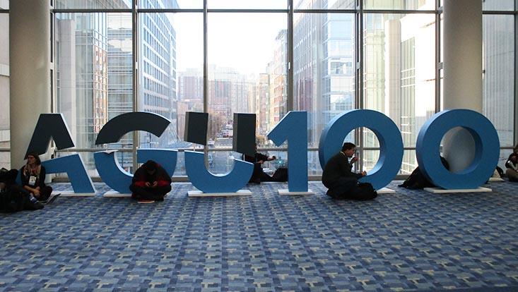 """Das Logo der """"AGU 100"""""""