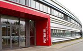 Haupteingang der Max von Laue-Experimentierhalle am Speicherring PETRA III