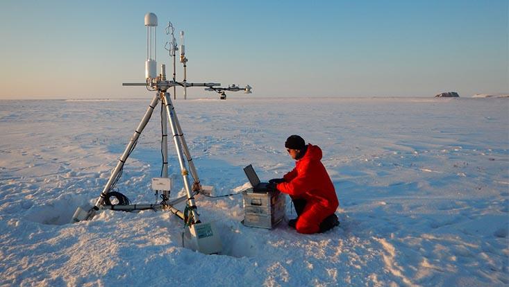 Arbeit in der Tundra