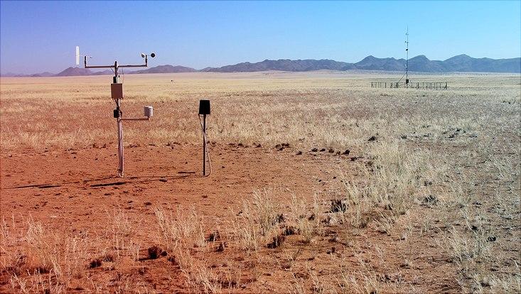 Eine Wetterstation aus dem SASSCAL-Projekt in Afrika