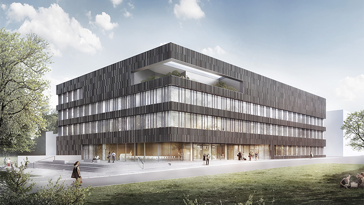 Illustration des neuen Forschungsgebäudes
