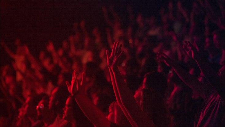 Publikum Hände hoch