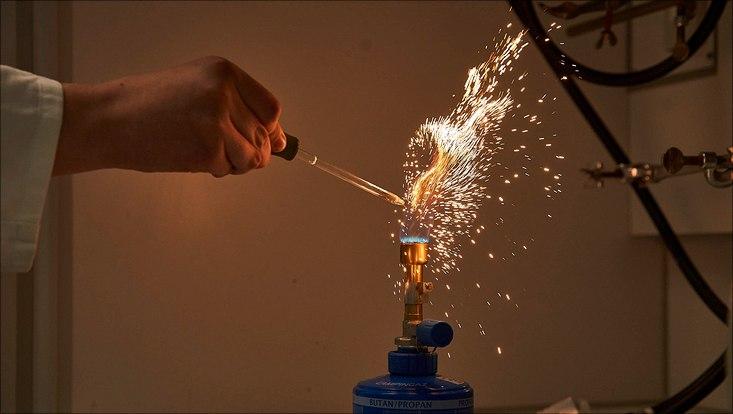 Ein kleines Feuerwerk aus Eisen.