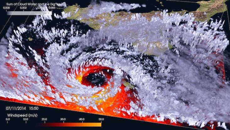 Tropical-like cyclone