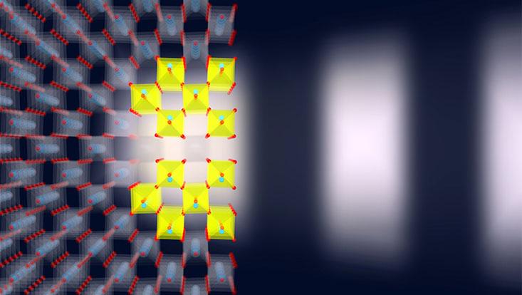 illustration einer ferroelektrischen phase