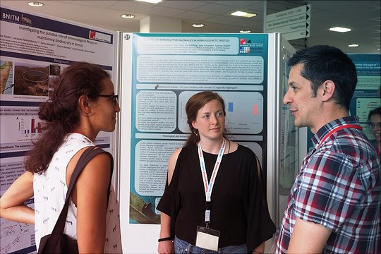 Discussion during the poster session