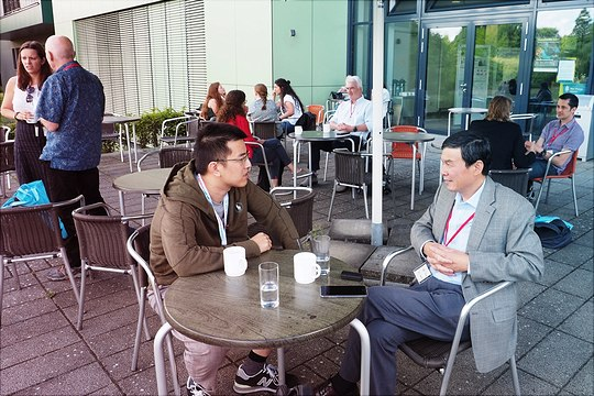 Discussions during the coffee break