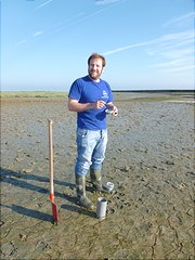 Humboldt fellow Fabio Francescangeli studies the ecology of benthic foraminifera of the Elbe estuary