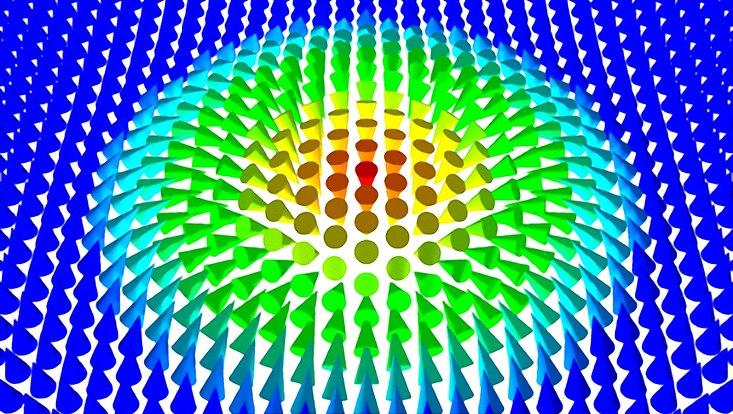 Illustration eines magnetischen Skyrmions