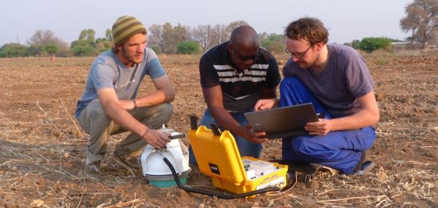 Emissionsmessung im südlichen Afrika / Emission measurements in southern Africa
