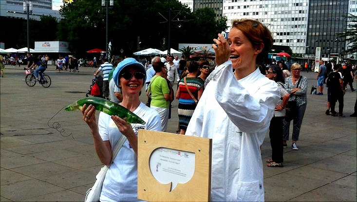 Elisa Schaum bei Soapbox Science